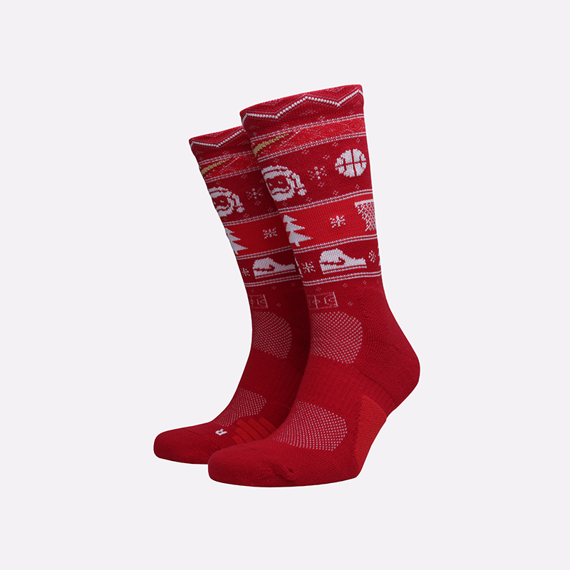 мужские красные  носки nike elite crew SX7866-687 - цена, описание, фото 1