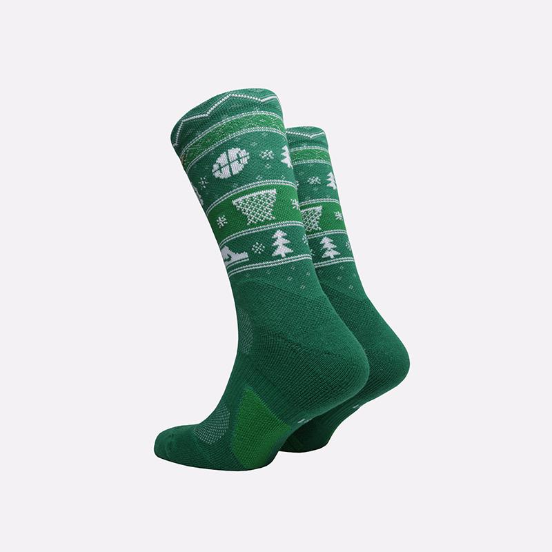 мужские зелёные  носки nike elite crew SX7866-312 - цена, описание, фото 2