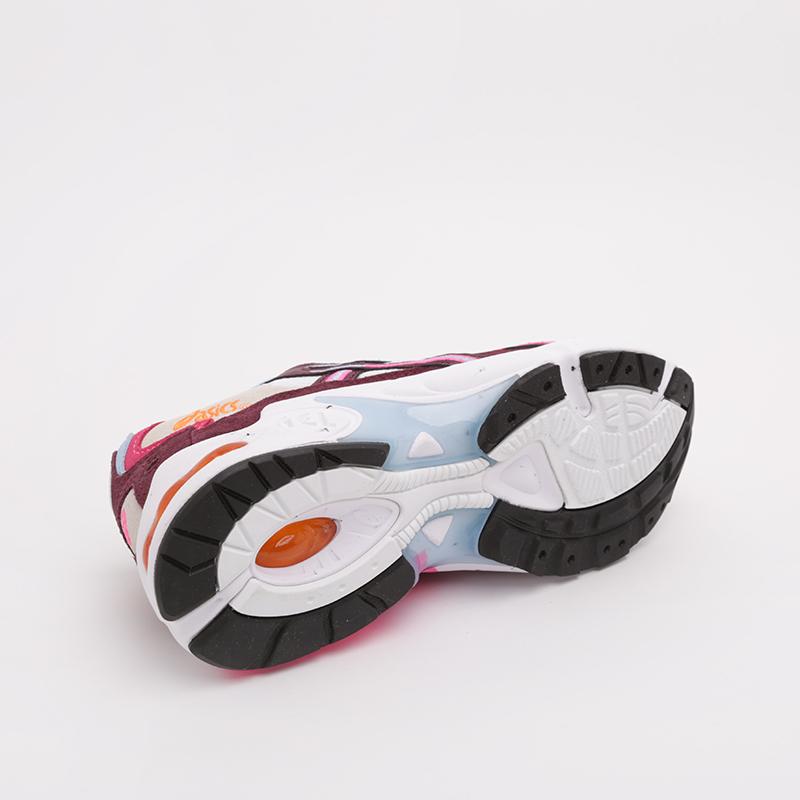 женские бежевые, бордовые  кроссовки asics gel-kayano 5 og 1022A156-100 - цена, описание, фото 3