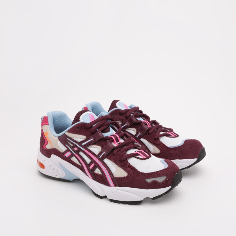 женские бежевые, бордовые  кроссовки asics gel-kayano 5 og 1022A156-100 - цена, описание, фото 4
