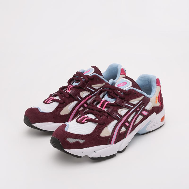 женские бежевые, бордовые  кроссовки asics gel-kayano 5 og 1022A156-100 - цена, описание, фото 5