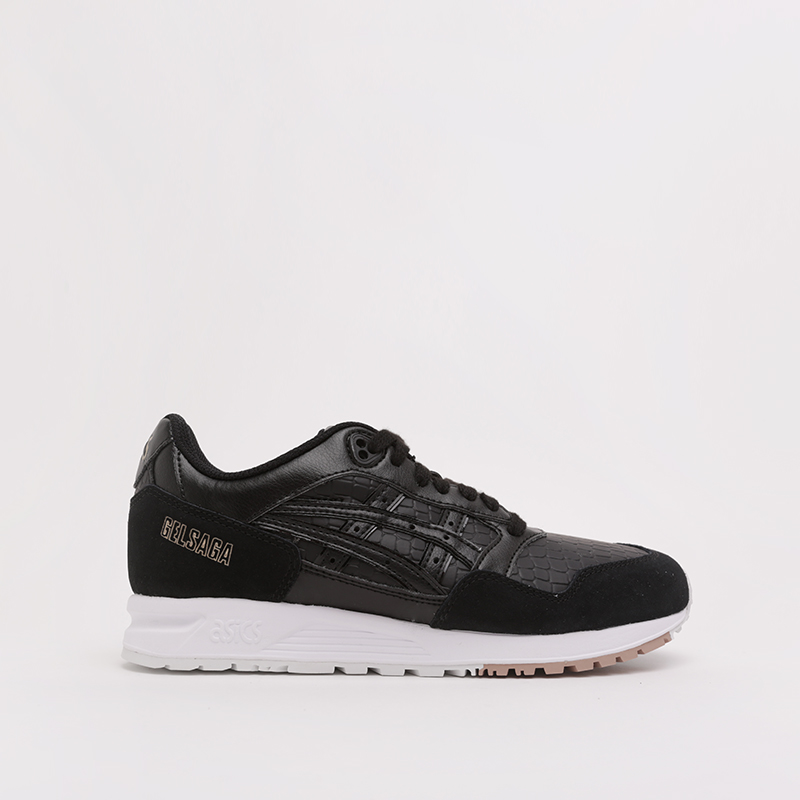 женские чёрные  кроссовки asics gelsaga 1192A107-001 - цена, описание, фото 2