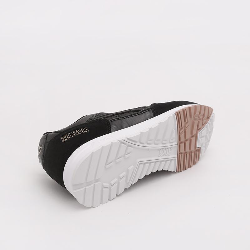 женские чёрные  кроссовки asics gelsaga 1192A107-001 - цена, описание, фото 3