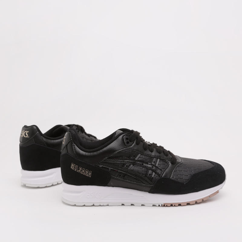 женские чёрные  кроссовки asics gelsaga 1192A107-001 - цена, описание, фото 1