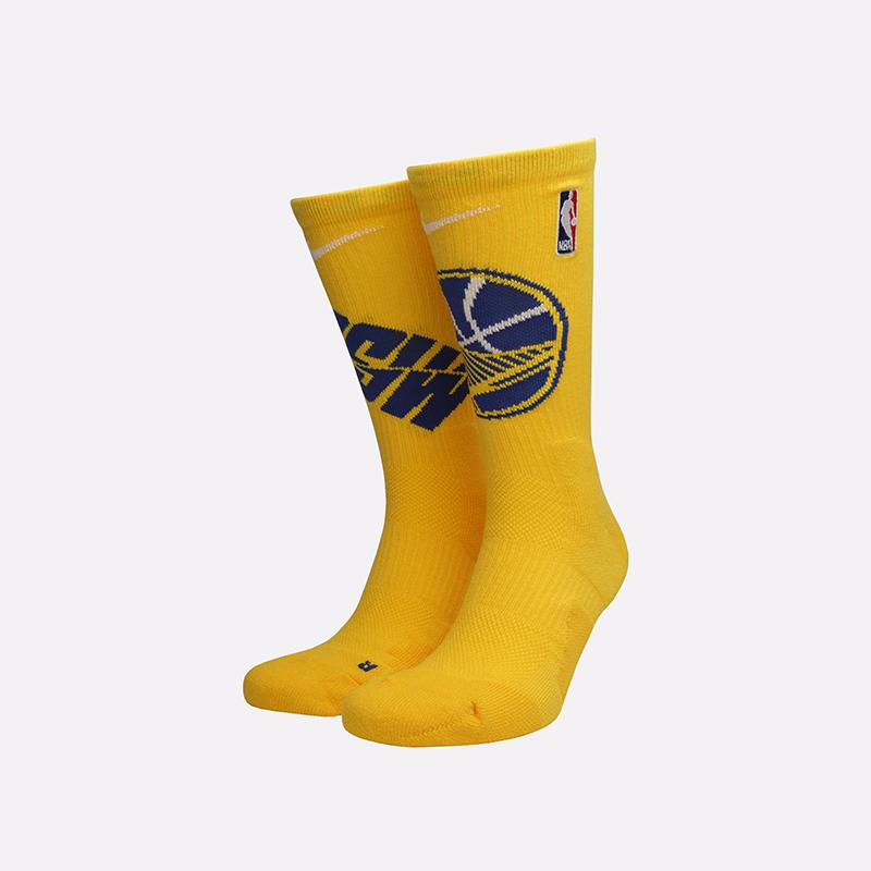 мужские жёлтые  носки nike elite crew SK0167-728 - цена, описание, фото 1