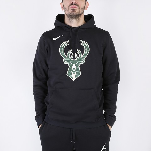 Толстовка Nike NBA Milwaukee Bucks Logo Club Hoodie