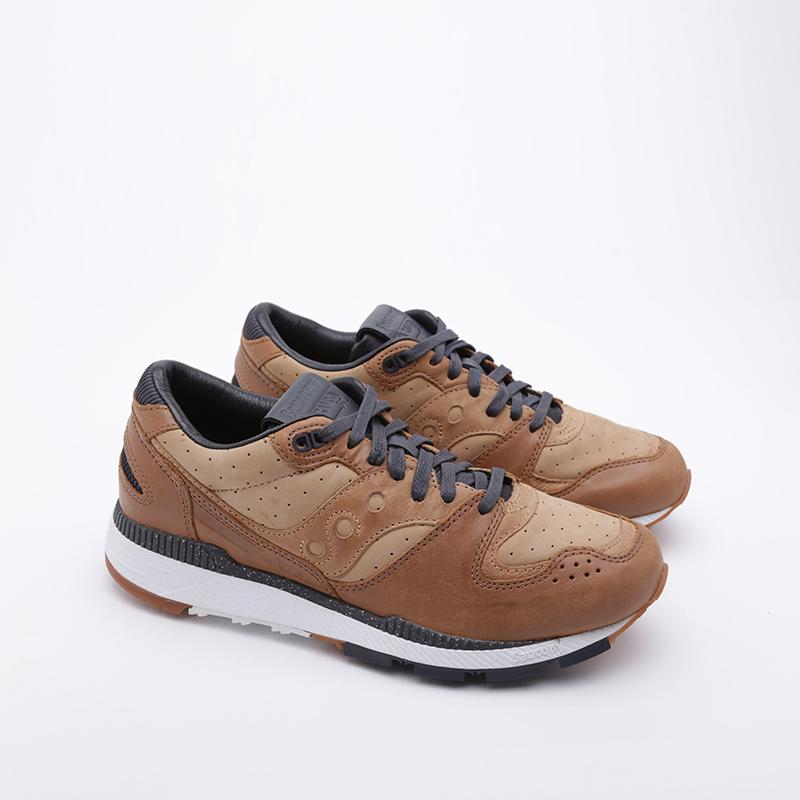мужские коричневые  кроссовки saucony azura leather S704641 - цена, описание, фото 1
