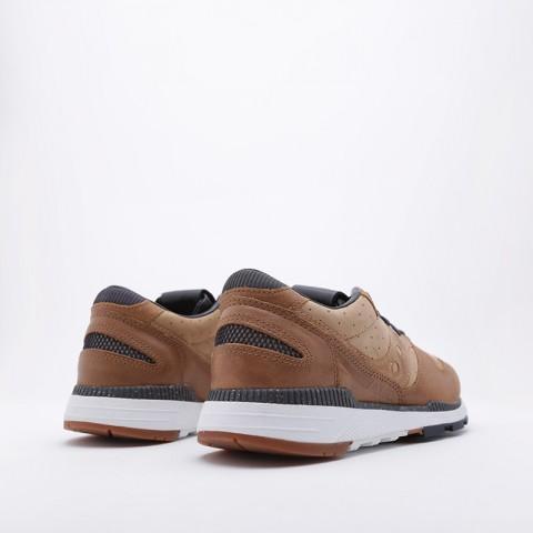 мужские коричневые  кроссовки saucony azura leather S704641 - цена, описание, фото 2