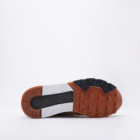 мужские коричневые  кроссовки saucony azura leather S704641 - цена, описание, фото 4