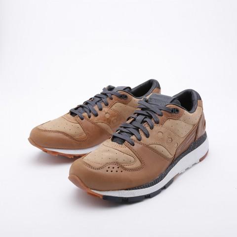 мужские коричневые  кроссовки saucony azura leather S704641 - цена, описание, фото 3