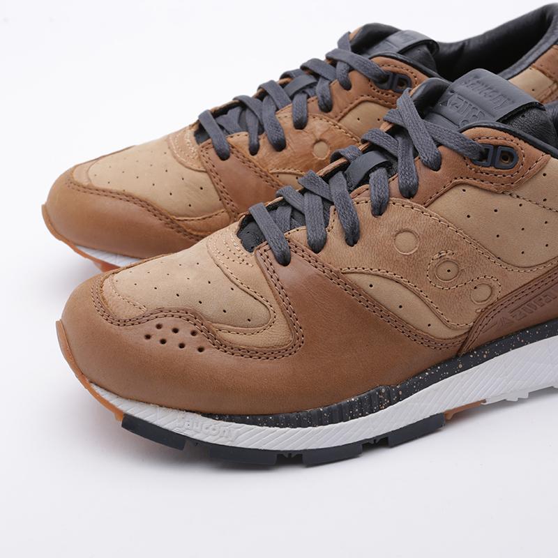 мужские коричневые  кроссовки saucony azura leather S704641 - цена, описание, фото 5