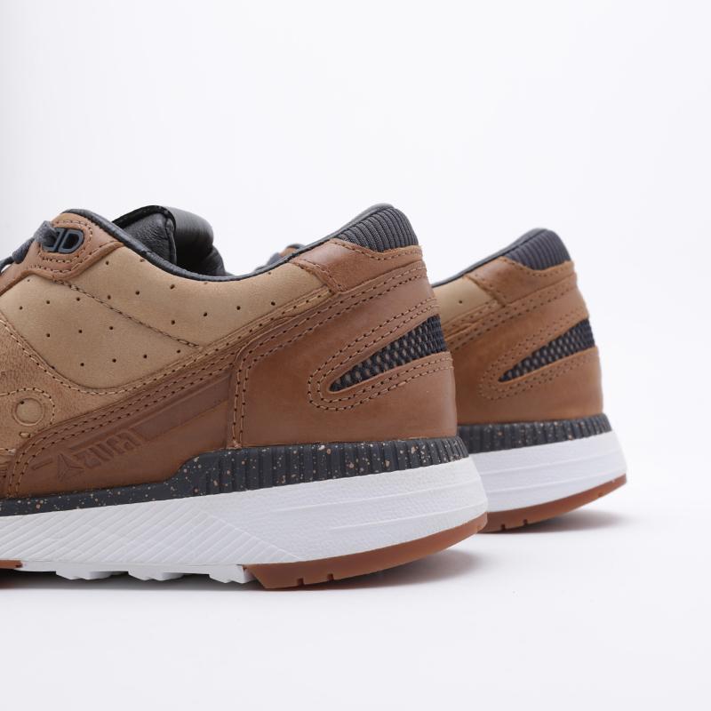 мужские коричневые  кроссовки saucony azura leather S704641 - цена, описание, фото 6