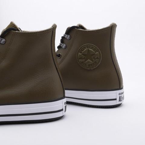 зелёные  кроссовки converse ctas winter hi 164925 - цена, описание, фото 5
