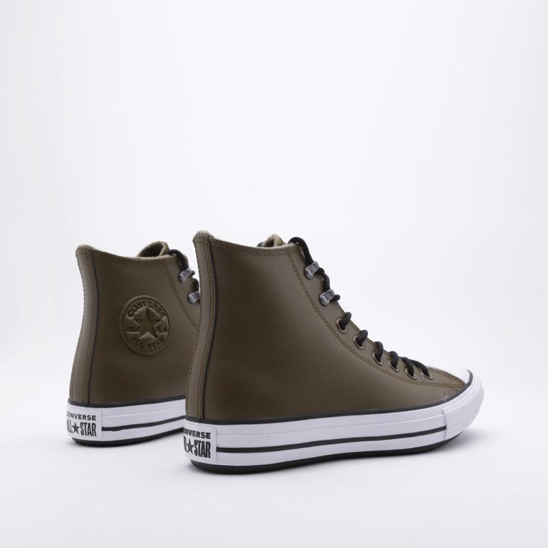 зелёные  кроссовки converse ctas winter hi 164925 - цена, описание, фото 2