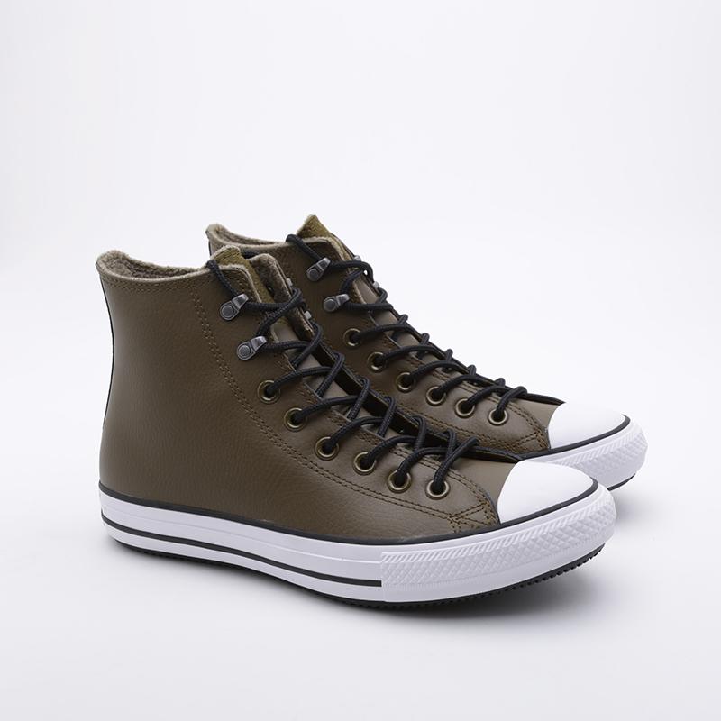 зелёные  кроссовки converse ctas winter hi 164925 - цена, описание, фото 1