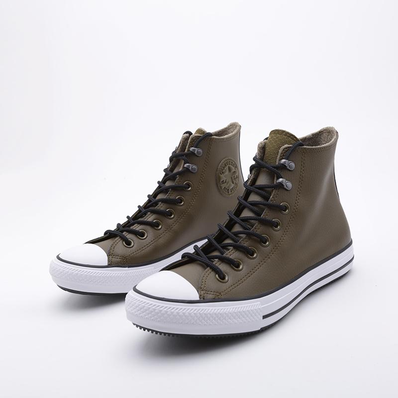 зелёные  кроссовки converse ctas winter hi 164925 - цена, описание, фото 3