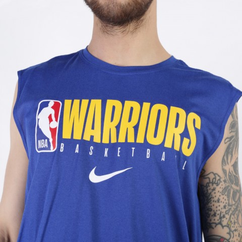 мужскую синюю  майку nike golden state warriors sl tee AT0620-495 - цена, описание, фото 4