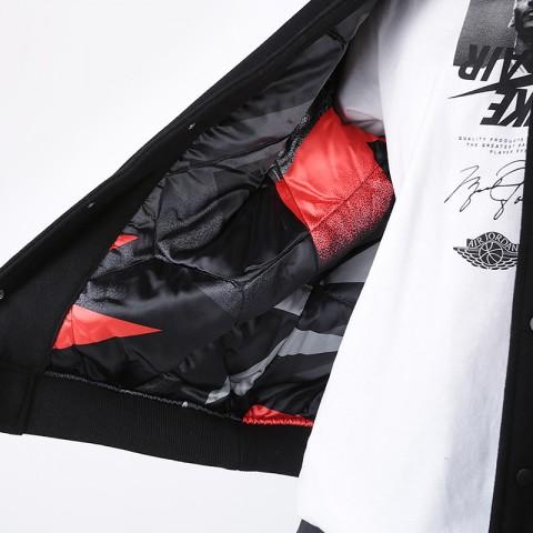 мужскую чёрную  куртку jordan psg varsity jacket BQ8363-010 - цена, описание, фото 3