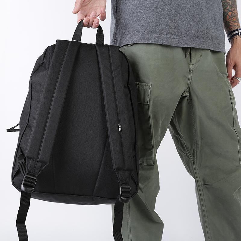 женский чёрный  рюкзак vans jacks check rea VA4CTWZTA - цена, описание, фото 3