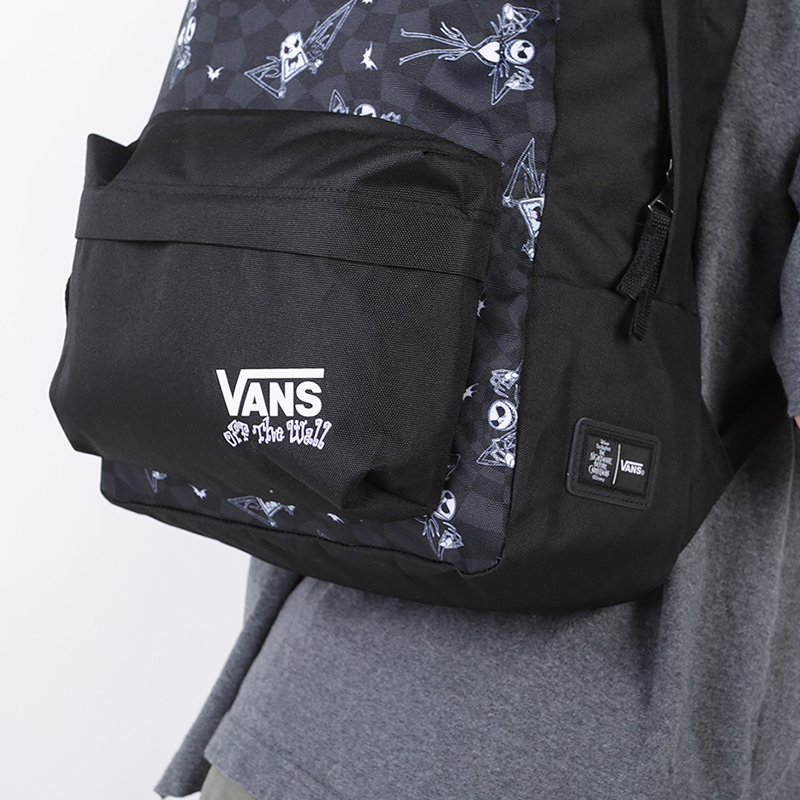 женский чёрный  рюкзак vans jacks check rea VA4CTWZTA - цена, описание, фото 2