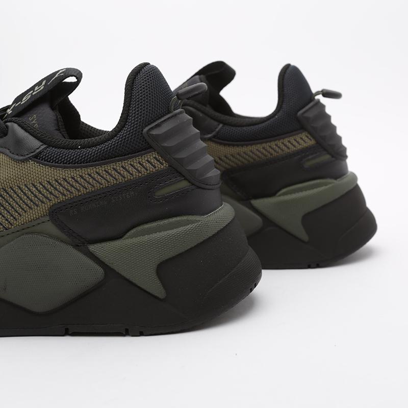 Кроссовки Puma, RS-X Winterized, Чёрный;зелёный