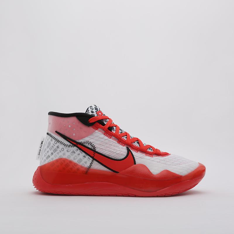 Кроссовки Nike, Zoom KD12 QS, Красный;белый