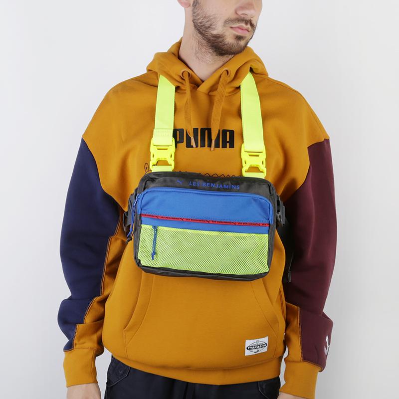 серую, синюю, салатовую  сумка puma x les benjamins shoulder bag 7666501 - цена, описание, фото 1