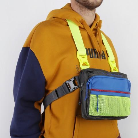 серую, синюю, салатовую  сумка puma x les benjamins shoulder bag 7666501 - цена, описание, фото 2