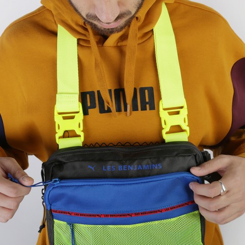 серую, синюю, салатовую  сумка puma x les benjamins shoulder bag 7666501 - цена, описание, фото 3