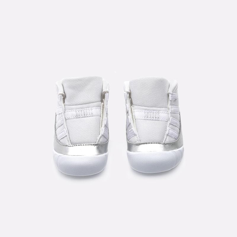 детские белые  кроссовки jordan 11 crib bootie CI6165-100 - цена, описание, фото 3