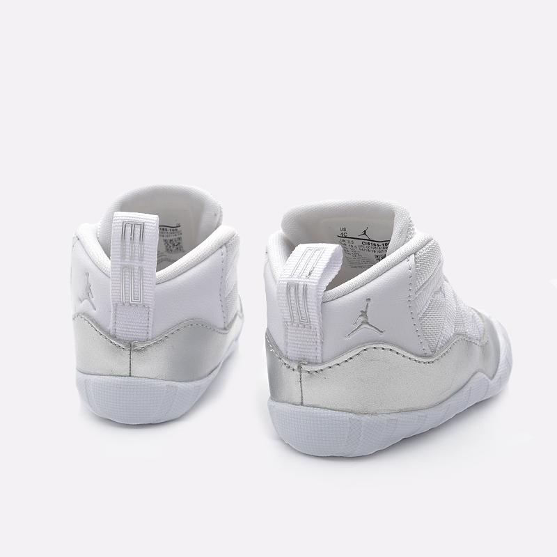 детские белые  кроссовки jordan 11 crib bootie CI6165-100 - цена, описание, фото 4