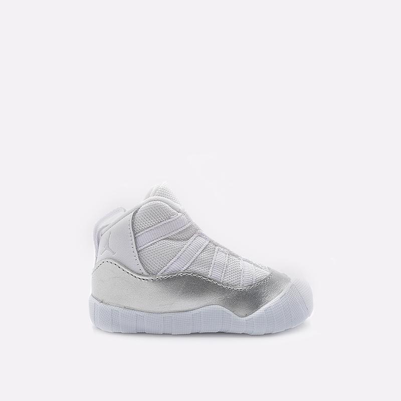 детские белые  кроссовки jordan 11 crib bootie CI6165-100 - цена, описание, фото 1