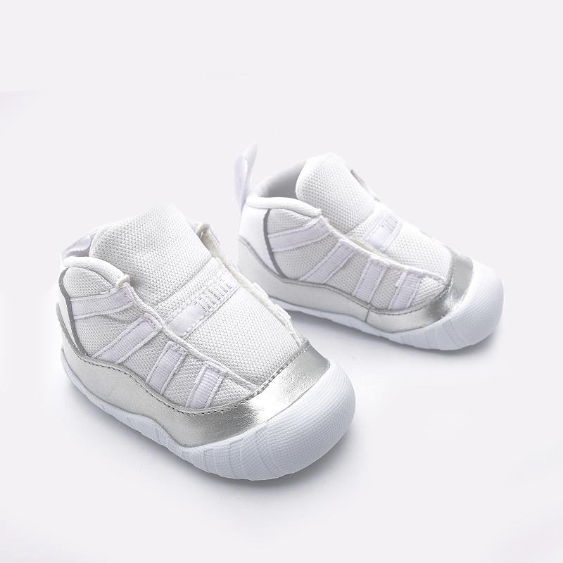 детские белые  кроссовки jordan 11 crib bootie CI6165-100 - цена, описание, фото 2