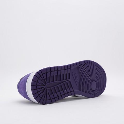 мужские белые, чёрные, фиолетовые  кроссовки jordan 1 low 553558-125 - цена, описание, фото 2
