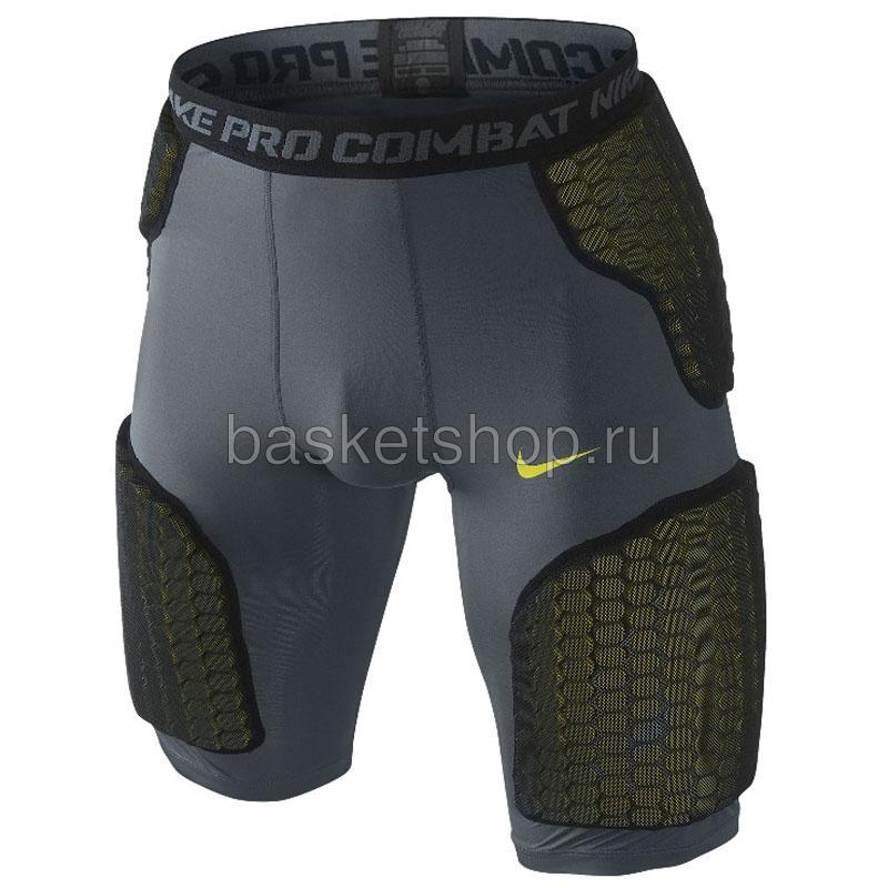 Шорты с защитой Nike ProКомпрессионное белье<br>84% полиэстер, 16% эластан<br><br>Цвет: серый, зеленый<br>Размеры US: 2XL<br>Пол: Мужской