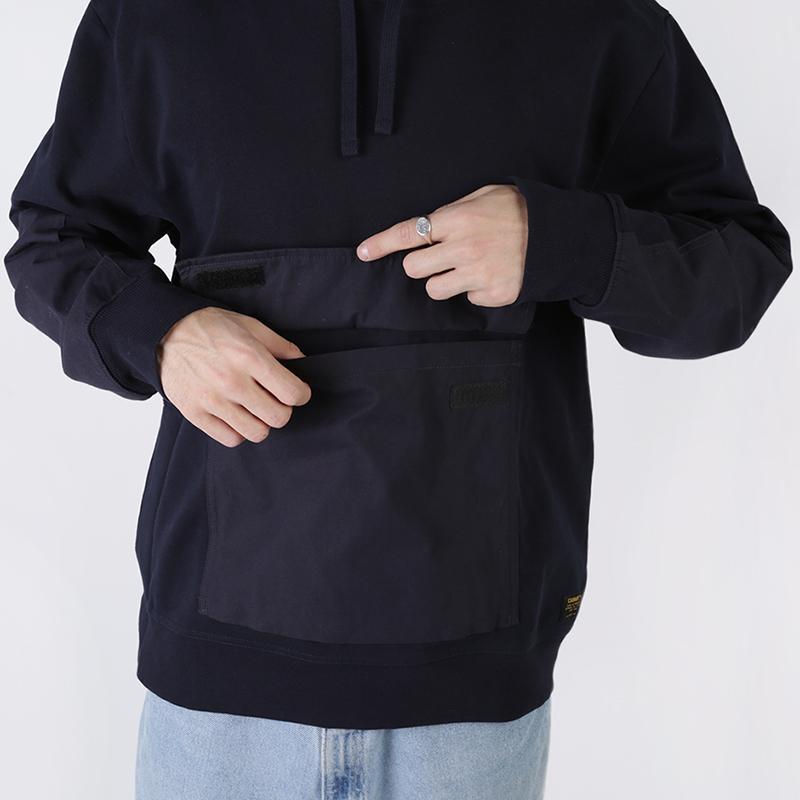 мужскую синюю  толстовка carhartt wip hooded klicks sweat i027007-dnavy - цена, описание, фото 3
