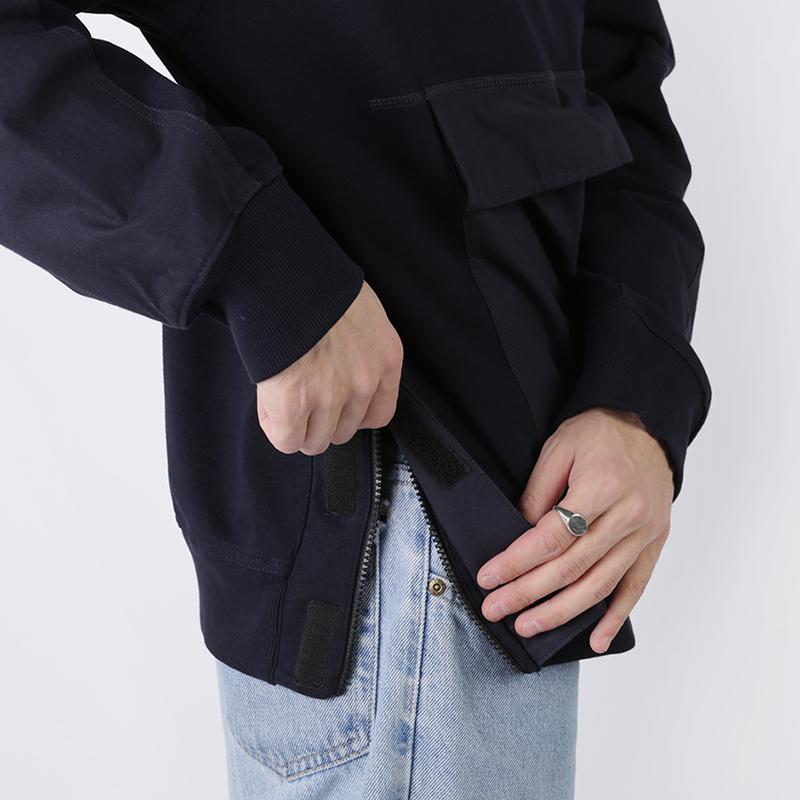 мужскую синюю  толстовка carhartt wip hooded klicks sweat i027007-dnavy - цена, описание, фото 4