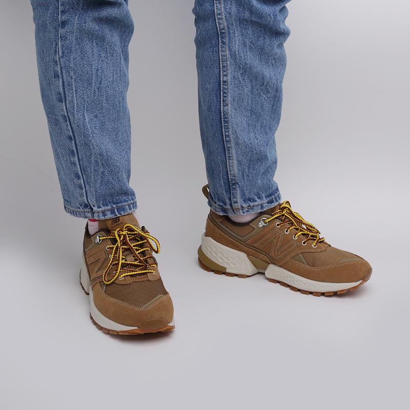 мужские бежевые  кроссовки new balance 574 MS574ARF/D - цена, описание, фото 7