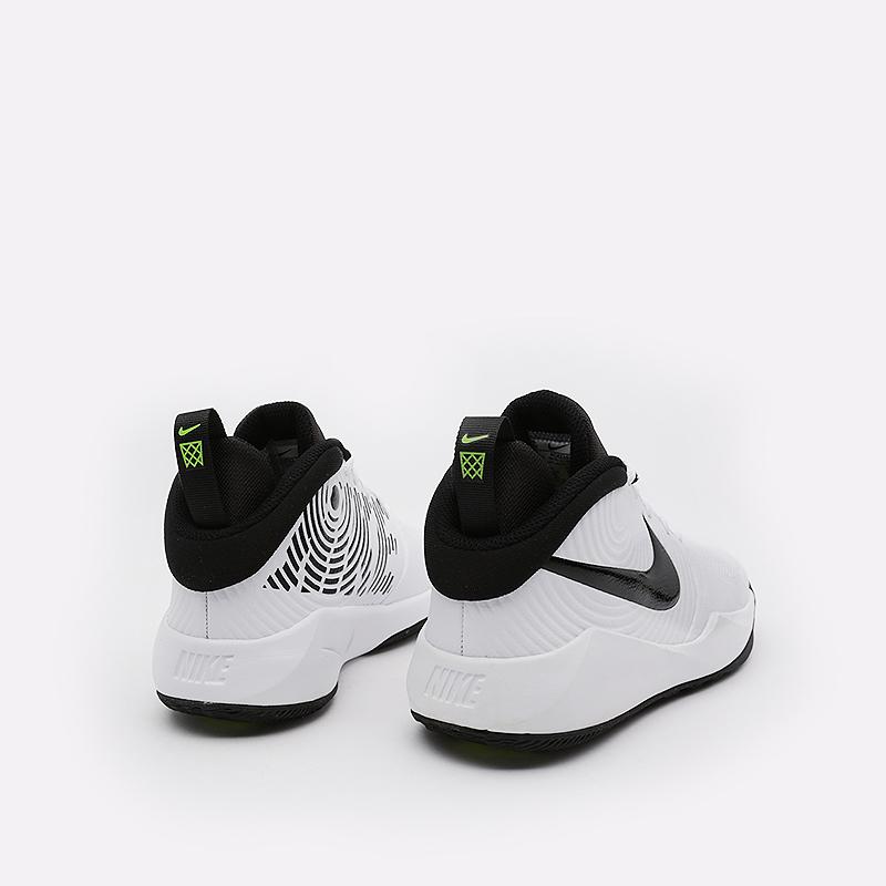 женские белые  кроссовки nike team hstle d 9 gs AQ4224-100 - цена, описание, фото 5