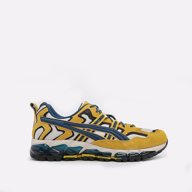 мужские белые, желтые  кроссовки asics gel-nandi 360 1021A284-100 - цена, описание, фото 1