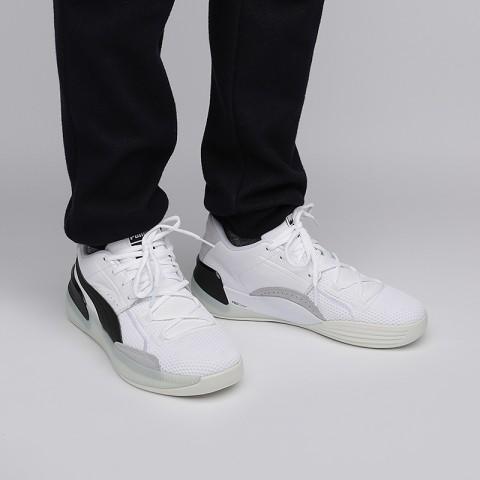 мужские белые  кроссовки puma clyde hardwood 19366301 - цена, описание, фото 7