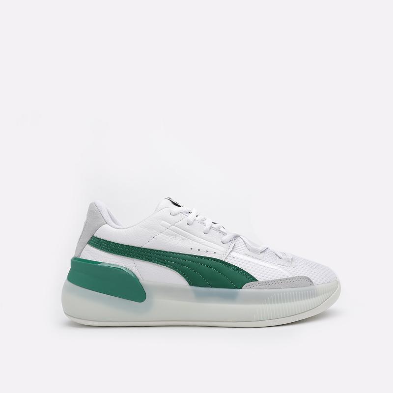 мужские белые  кроссовки puma clyde hardwood 19366302 - цена, описание, фото 1