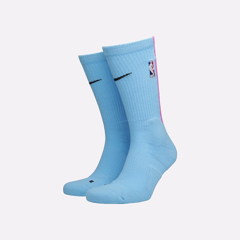 мужские голубые  носки nike elite crew socks SX7881-425 - цена, описание, фото 1