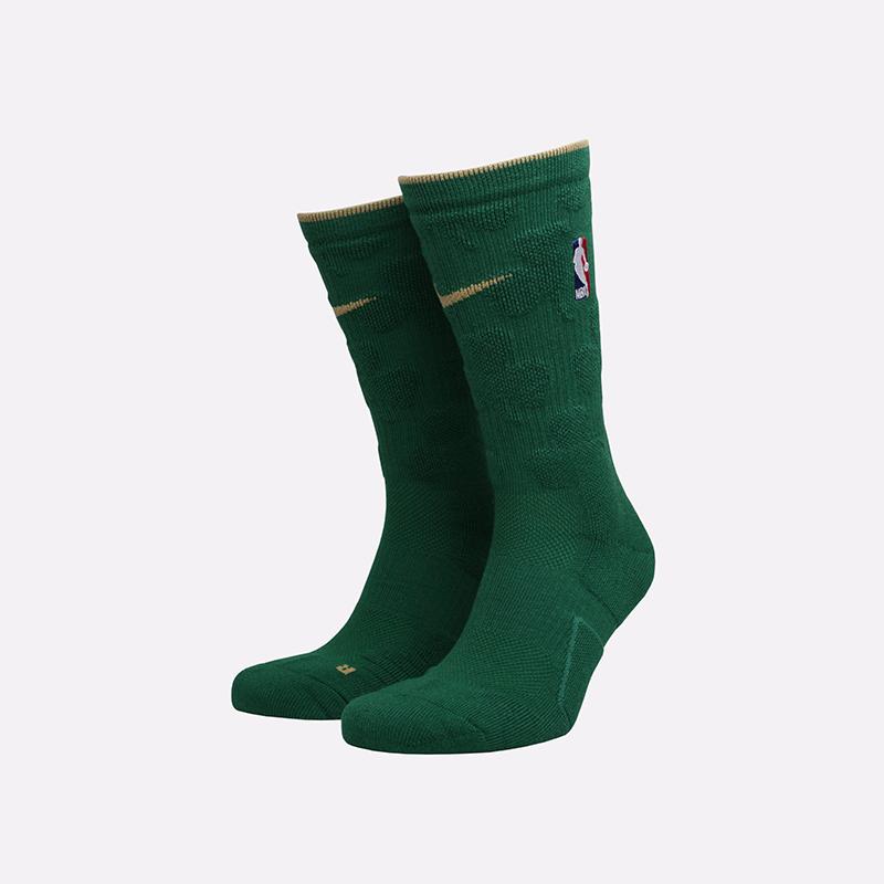 мужские зелёные  носки nike elite crew socks SX7899-312 - цена, описание, фото 1