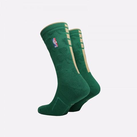 мужские зелёные  носки nike elite crew socks SX7899-312 - цена, описание, фото 2