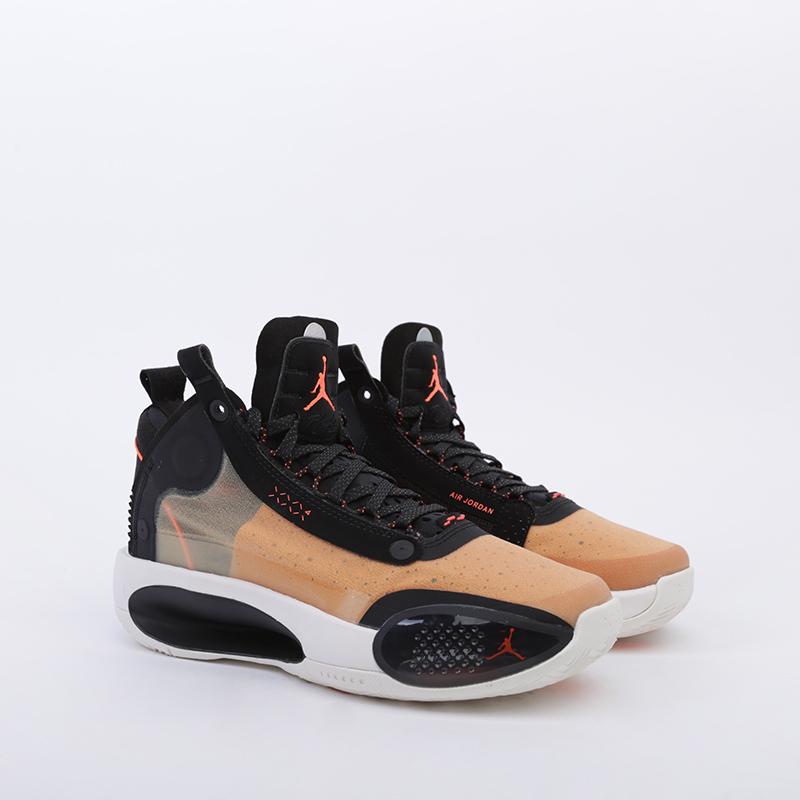 женские бежевые  кроссовки jordan xxxiv (gs) BQ3384-800 - цена, описание, фото 2