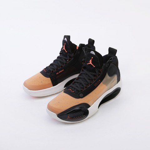 женские бежевые  кроссовки jordan xxxiv (gs) BQ3384-800 - цена, описание, фото 4