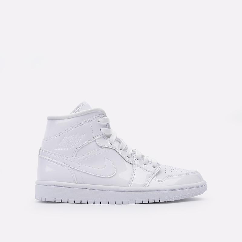 женские белые  кроссовки jordan wmns 1 mid BQ6472-111 - цена, описание, фото 1