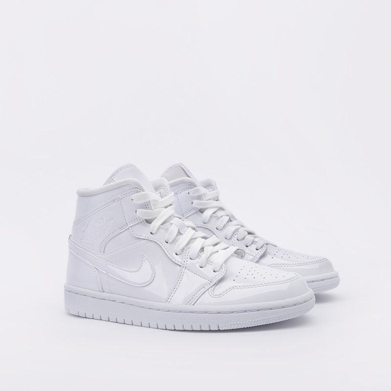женские белые  кроссовки jordan wmns 1 mid BQ6472-111 - цена, описание, фото 2