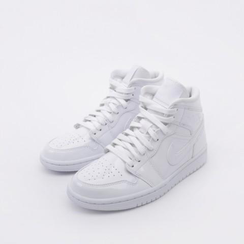 женские белые  кроссовки jordan wmns 1 mid BQ6472-111 - цена, описание, фото 5